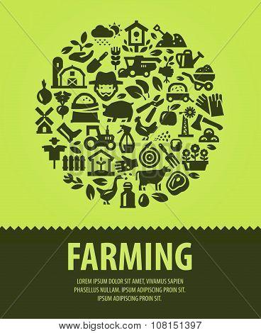 farming vector logo design template. farm or gardening, horticulture icons