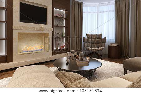 Living Room Avant-garde Style