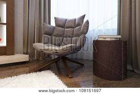 Armchair In Living Room Modern Style