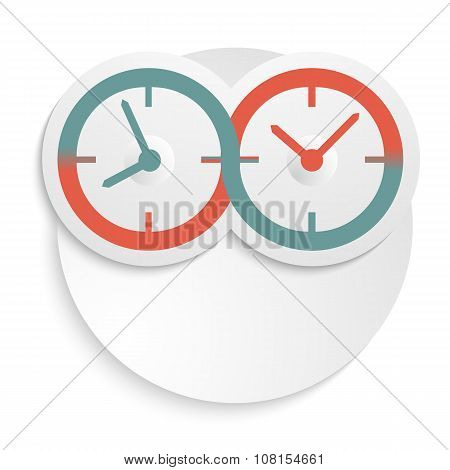 Concept-of-infinity-of-time-clock-icon-isolated