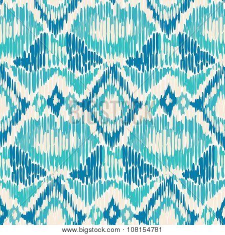 Seamless Ikat Pattern.