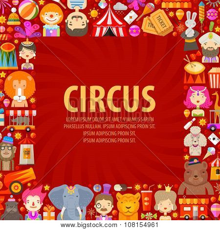 circus vector logo design template. clown, artist or animals icons