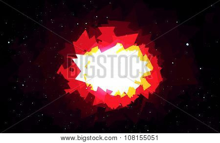 Bright Explosion In Space