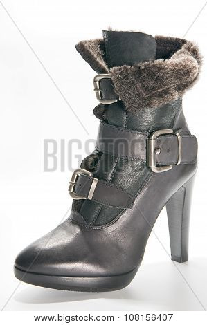 Women's Winter Boots With High Heels..