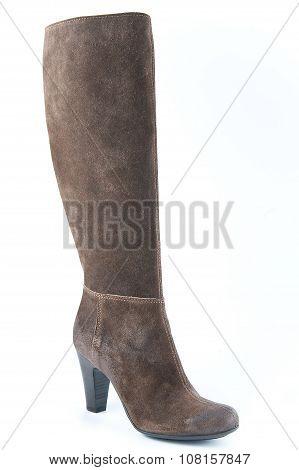 Women's Suede Boots Brown..