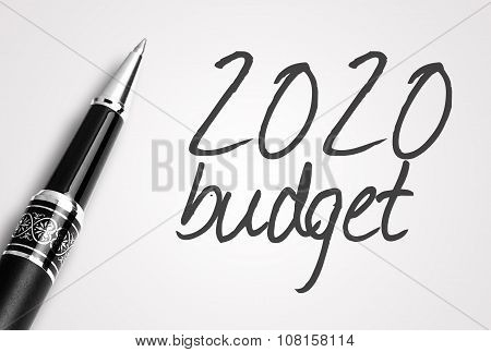 Pen Writes 2020  Budget  On Paper