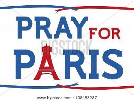 Pray for Paris concept