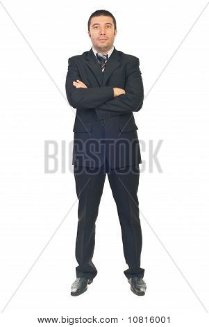 Serious Business Man With Arms Folded