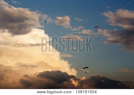 Unidentified Skydivers, Parachutist