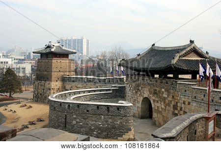 Hwaseong fortress. South Korea