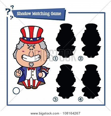 funny shadow Uncle Sam game.