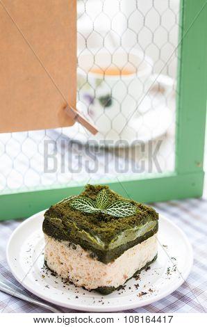 Japanese Matcha Green Tea Cake, Tea And Cake
