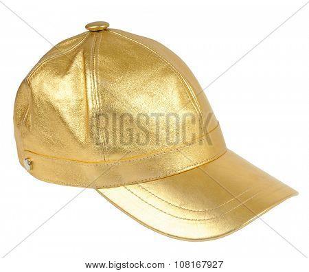 gold peaked cap
