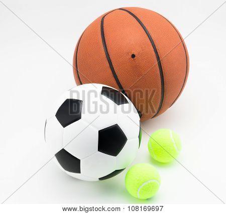 Basketball And Soccer Ball Tennis Ball hite