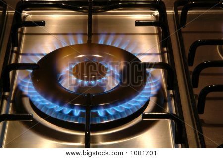 Gas Stove Burning