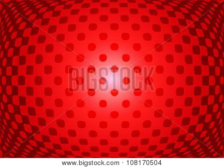 Optical Illusion Abstract On Red Background