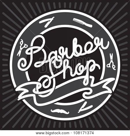 Hipster Barber Shop Lettering. Vintage Template