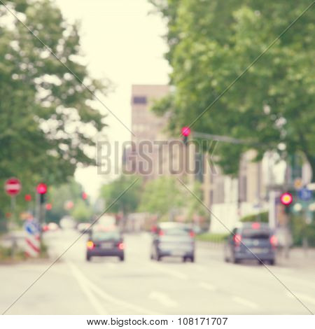 Blurred image of abstract urban scene.