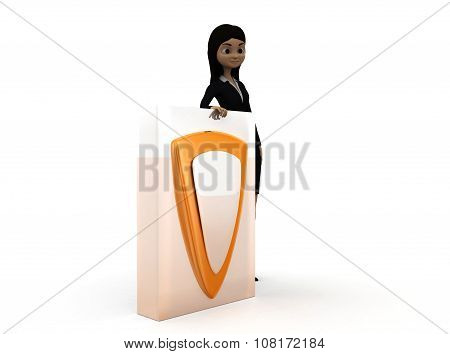 3D Woman Shield Concept