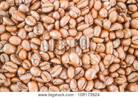 Roasted Coffee Bean Textured Background
