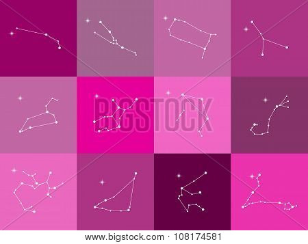 Astrological Constellation Of The Zodiac Signs