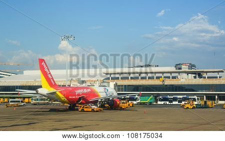 Civil Aircrafts Parking At Tan Son Nhat International Airport