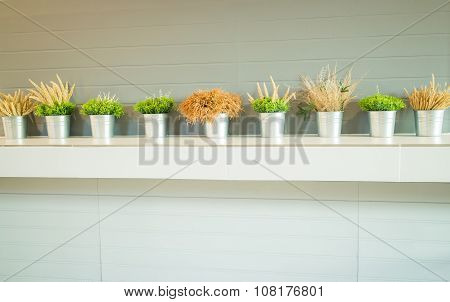 Simply Plant Bucket Decorated On Counter