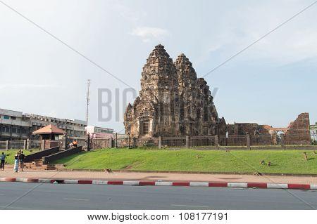 Phra Prang Sam Yod,religious Ancient Khmer Art