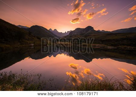 Cathedra mountain reflections