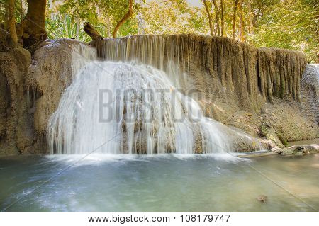 Beauty of spring water fall in deep forest