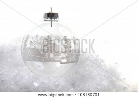 Christmas Decoration In The Snow