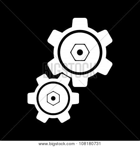 The settings icon. Gears symbol.