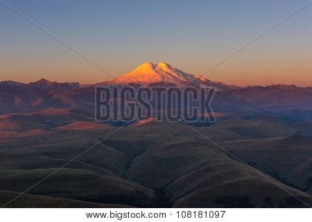 Mount Elbrus in the morning