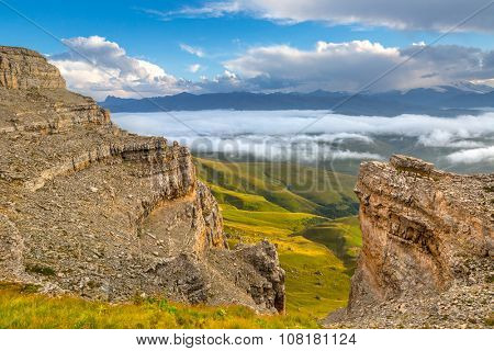 Landscapes of Nothern Caucasus mountains