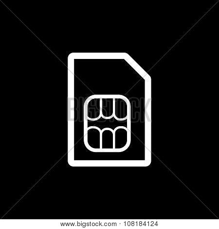 The sim card icon. Sim Card symbol. Flat