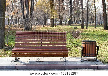 Bench With Urn
