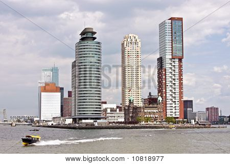 Skyline from Rotterdam in the Netherlands
