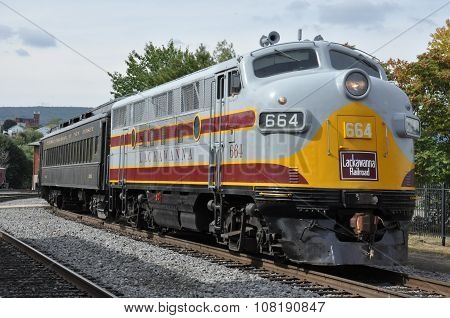 Diesel Locomotive at Steamtown National Historic Site in Scranton, Pennsylvania