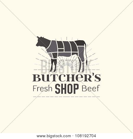 Butcher shop logo