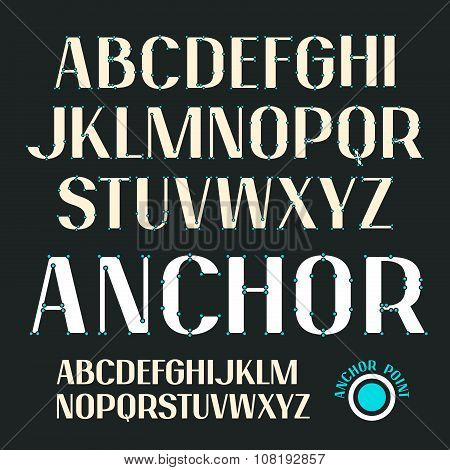 Uppercase Outline Decorative Font