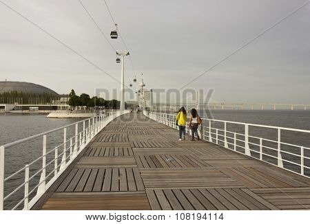 Passeio Das Tagides Bridge In Lisbon