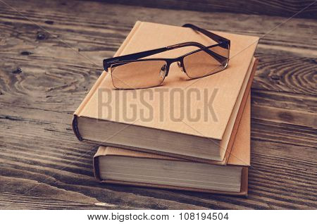Two Books And Glasses