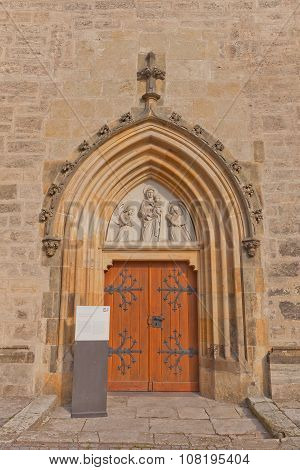 Portal Of Church Of Our Lady Na Nameti In Kutna Hora