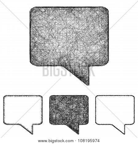 Bubble icon set - sketch line art