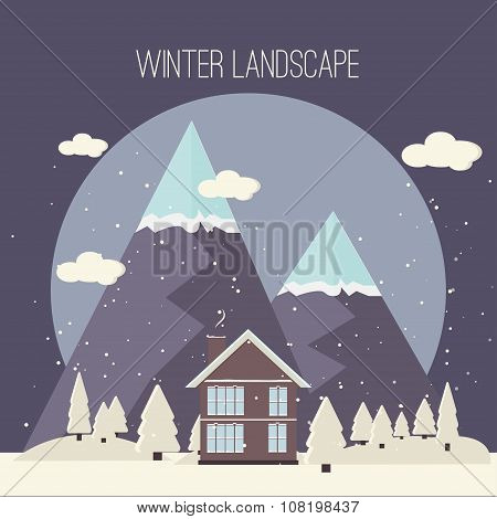 Winter Snow Urban Countryside Landscape City Village Real Estate New Year Christmas Night And Day Ba
