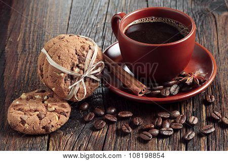 Coffee And Chocolate Cookies
