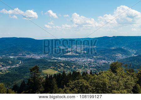 Aerial View Of North Black Forest, Germany
