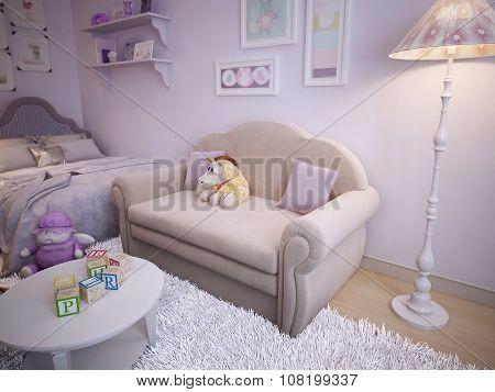 Children's Classical Style Sofa