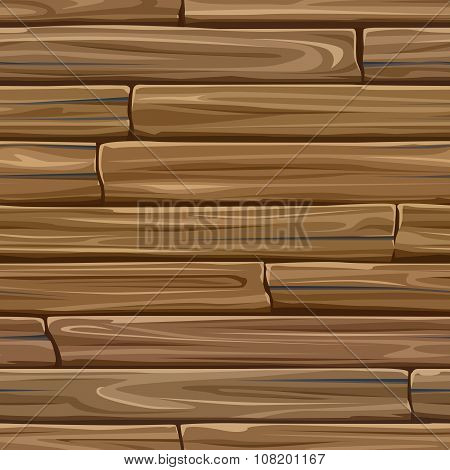 Seamless Colored Background Wall Of Wood Planks.
