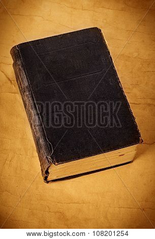 Old Grunge Book Close-up On A Vintage Background.